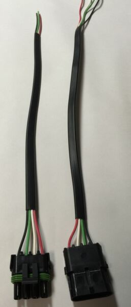WEATHER PACK 4 PIN PIGTAIL SET - MALE & FEMALE 16 GA. WIRE