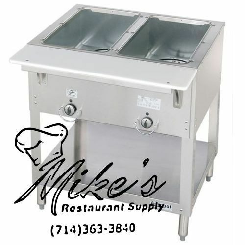 NEW 2 Well Gas Steam Table Wet Bath Duke WB302 Commercial NSF #4666 Food AEROHOT $1095.00