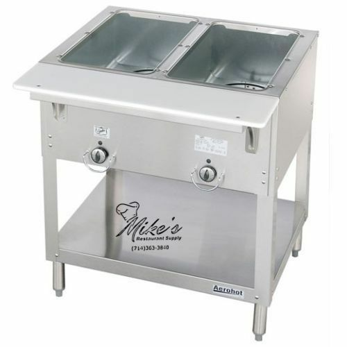 NEW 2 Well Gas Steam Table Dry Bath Duke 302 Commercial #4665 AeroHot NSF Food $875.00