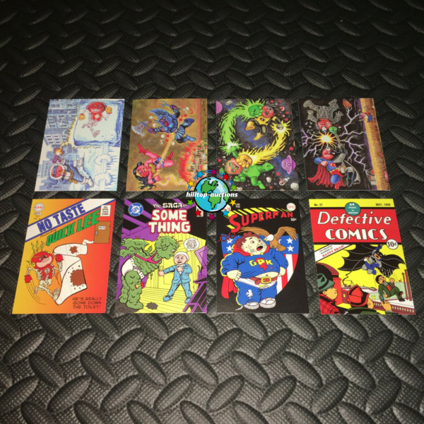 GARBAGE PAIL KIDS 2014 SERIES 2 SUPERHERO BATTLE & COMIC COVER SETS! ALL 8 CARDS
