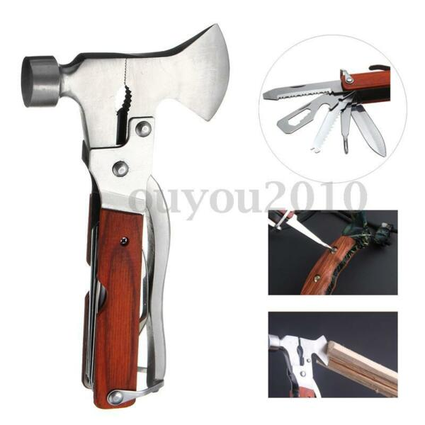 Multi-function Outdoor Camping Emergency Survival Tools Axe Hatchet Hammer Plier