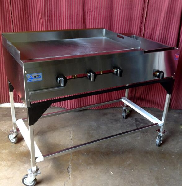 NEW 48quot; Ekono Taco Cart Plancha Flat Top Griddle Steam Table Propane LP Gas 1234