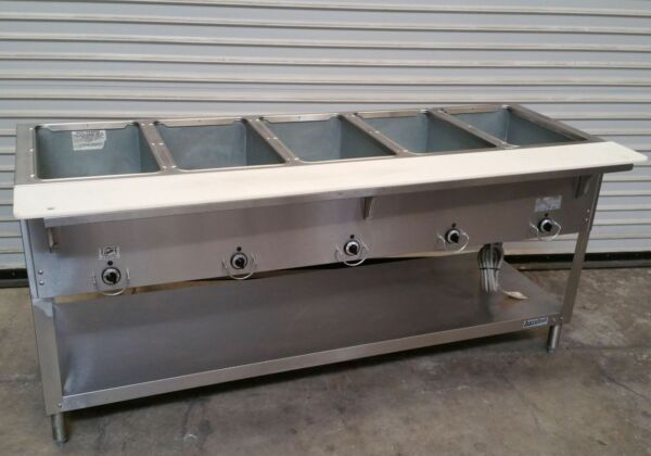 NEW 5 Well Gas Steam Table Duke AeroHot WB305 Water Bath NSF #4404 Commercial $1770.00