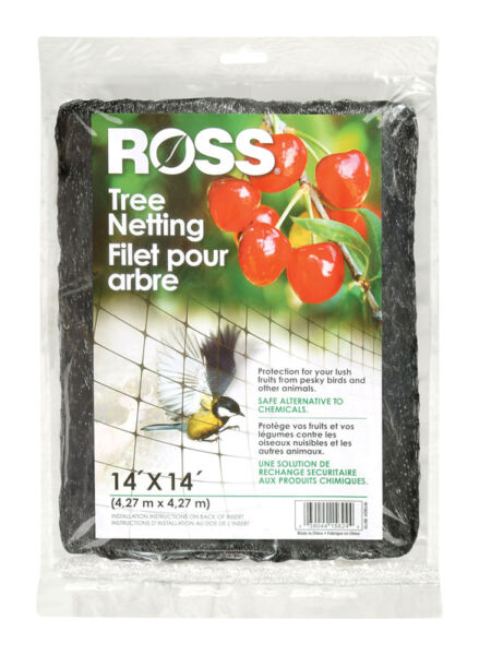 Ross Tree Netting 196 sq ft 14#x27; x 14#x27; Protect Garden Plants From Birds amp; Animals