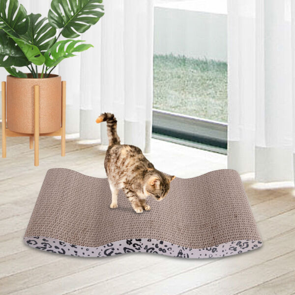 Corrugated Cardboard Cat Cat Toy Scratcher Bed Pad with Catnip Random Delivery $12.95
