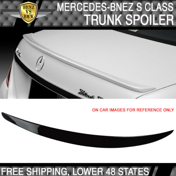 USA Stock 14-18 Benz W222 S Class OE Style Painted#040 Black ABS Trunk Spoiler