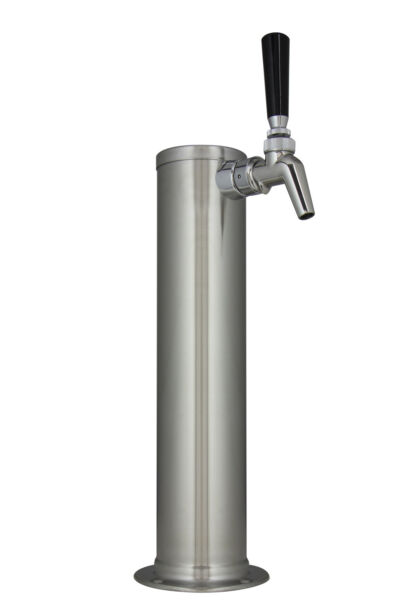 Kegco DT145 1B 630 14quot; Brushed Stainless 1 Tap Draft Tower Perlick Faucet