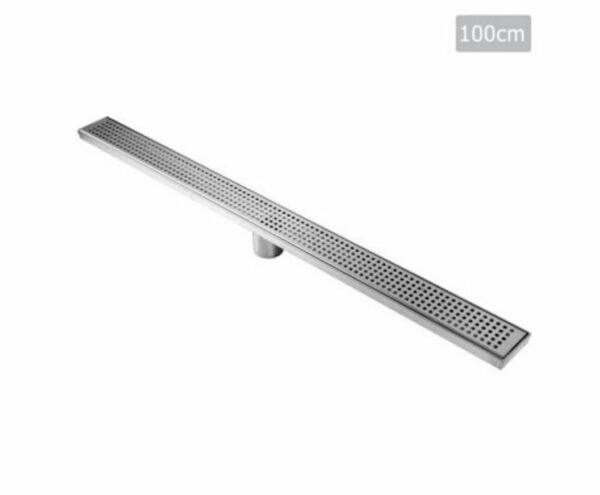NEW SQUARE STAINLESS STEEL SHOWER GRATE DRAIN FLOOR BATHROOM 1000MM BATH ROOM