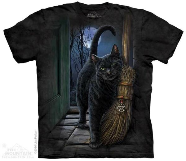 New The Mountain A Brush With Magic Black Cat T Shirt