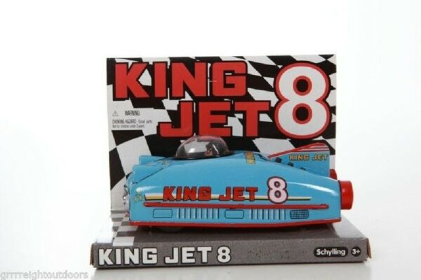 Schylling KING JET Friction Car Future Space Ship Tin Metal Toy 50 Style Retro $12.99