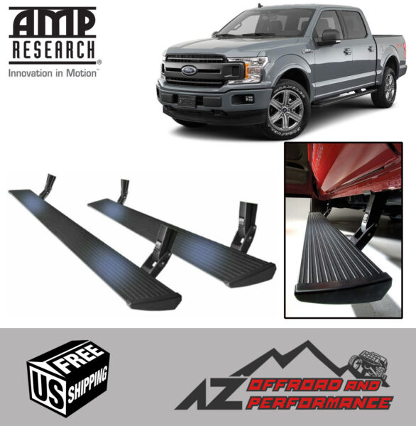 Amp Research Plug-n-Play Power Steps 2015-2019 Ford F150 Truck All Cab Models