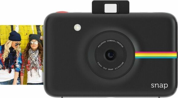 Black Polaroid Snap Instant Digital Camera with ZINK Zero Ink Technology