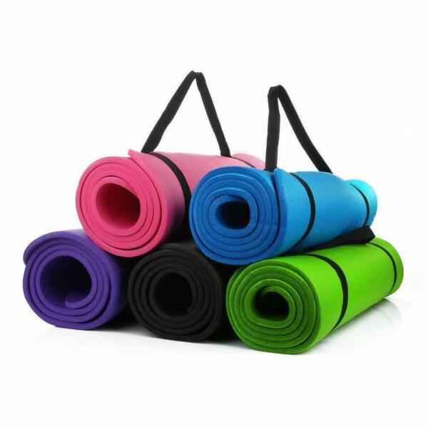 Portable Non-slip Yoga Mat 8MM Thick Fitness Exercise Pad Gym Pilates Supplies