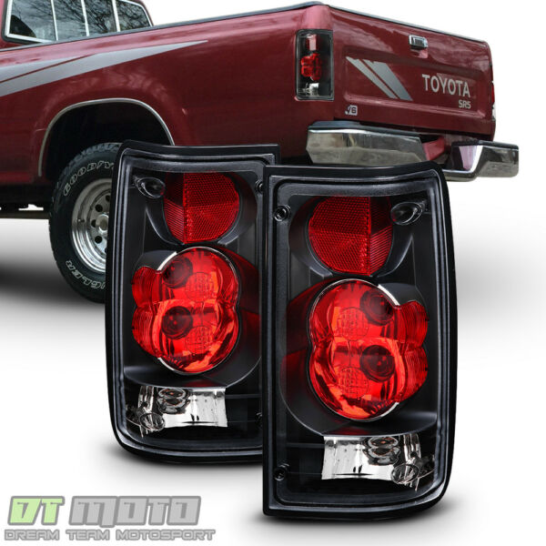 For Blk 1989-1995 Toyota Pickup Truck Tail Brake Lights Aftermarket Left+Right