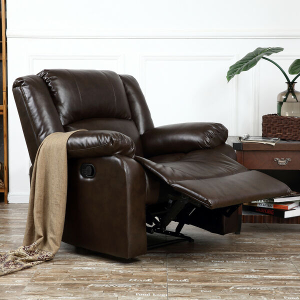 NEW Reclining Chair Furniture Recliner Living Room Faux Leather Black Brown $289.99