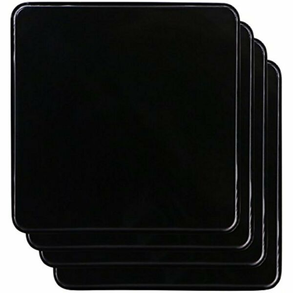 Reston Home Dcor Lloyd Square Gas Stove Burner Covers Set Of 4 Black