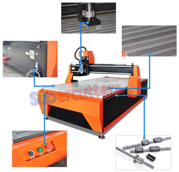 3.2KW  Water Cooling CNC Woodworking Router 1300mm X 2500mm DSP Handle Vacuum