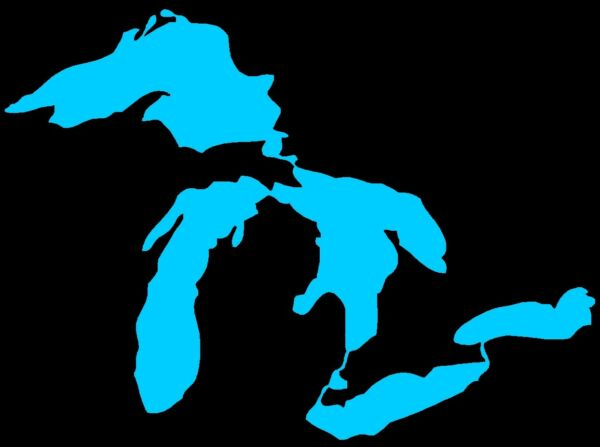 State of Michigan Die Cut Window Sticker Decal (Great Lakes)