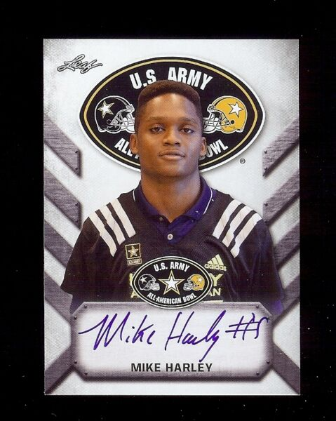 MIKE HARLEY Miami Hurricanes 2017 Leaf Army *TOUR* Certified AUTOGRAPH RC $9.95