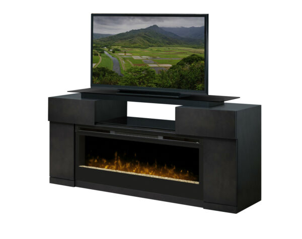 Dimplex Concord grey TVmedia fireplace glass top 50