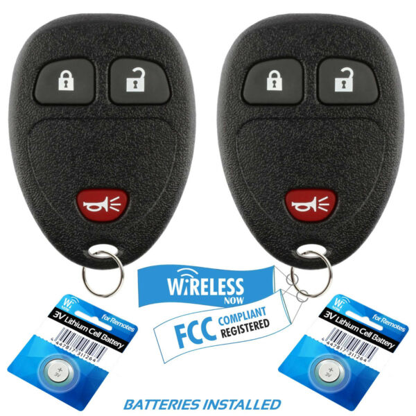 2 Car Key Fob Remote 2Btn For 07 2008 2009 2010 2011 2012 2013 Chevy Silverado