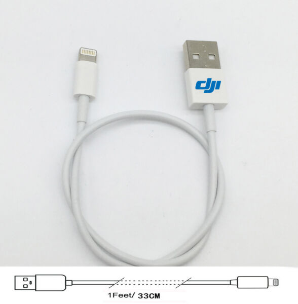 For DJI Phantom 4 DJI Matrice M100 Lightning USB Cable 13inch compatible Apple