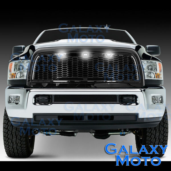 Gloss Black Replacement Mesh GrilleShellWhite LED for 10 18 Dodge RAM 2500350