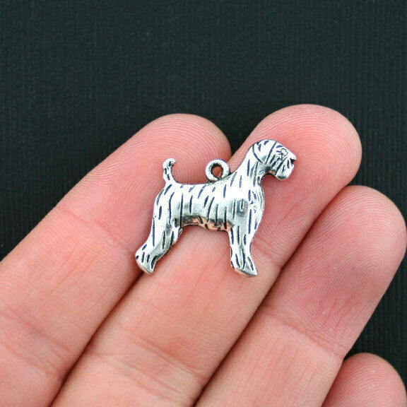 10 Dog Charms Antique Silver Tone SC3607 $3.49