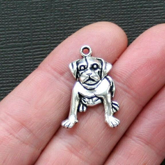 8 Dog Charms Antique Silver Tone SC2553 $3.49