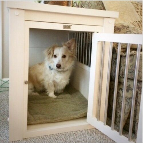Medium Dog House Wood Indoor Cute Cool Unique Pet Doghouse Kennel Crate Cage New