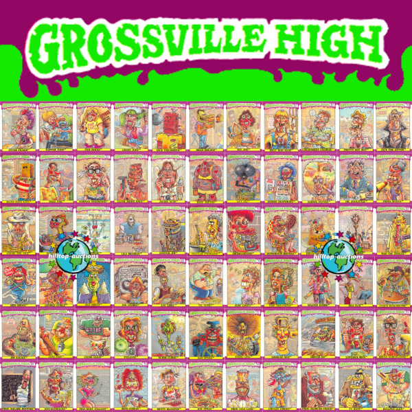 GROSSVILLE HIGH 1986 PICK-A-CARD #1 thru #66 or WRAPPER FLEER garbage pail kids