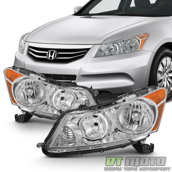 For 2008 2009 2010 2011 2012 Honda Accord 4Dr Sedan Headlights Headlamps 08 12