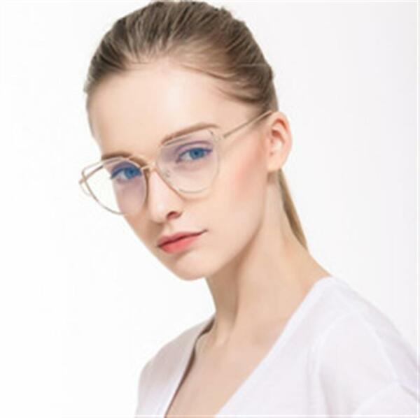 Silver Frame Women Clear Glasses New Style Gentle Aviator Clear Lens Unique $9.75
