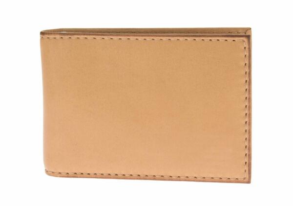 Luciano Natazzi RFID Blocking Mens Leather Bifold Compact Cash Clip Wallet