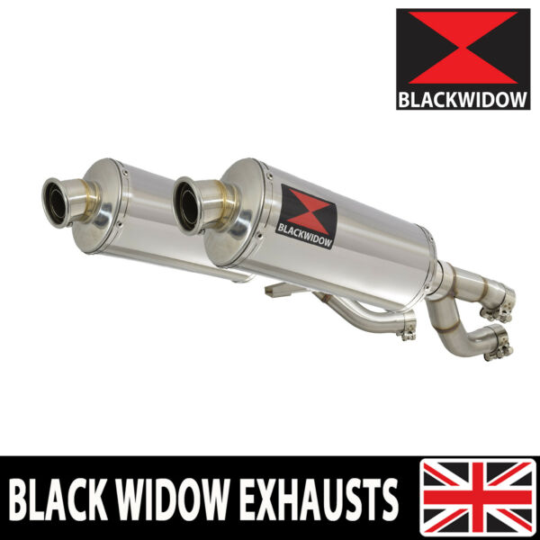 V MAX VMAX 1200 VMAX1200 VMX Exhaust Silencer Kit 300mm Oval Stainless 300SS