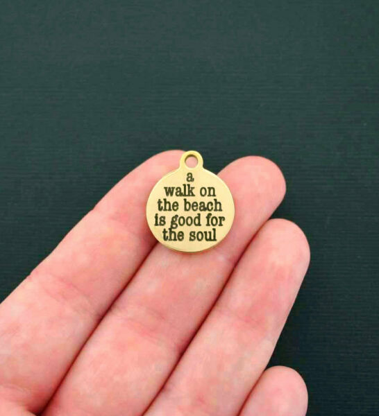 Beach Charms Stainless Steel Quantity Options BFS11GOLD