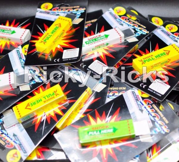 10 Shocking Gum Funny Prank Trick Novelty Joke Toy Electric Chewing Bubble Gift