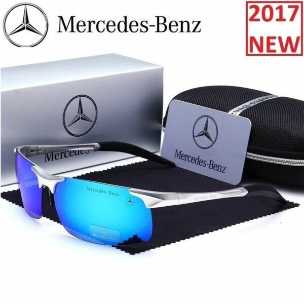 Mercedes Sunglasses Luxury Benz Glasses 2018 Men Polarized WITH BRAND BOX !!!