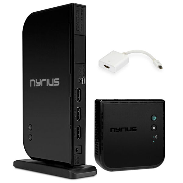 Nyrius ARIES Home+ Wireless HDMI 2x Input Transmitter & Receiver for Streaming