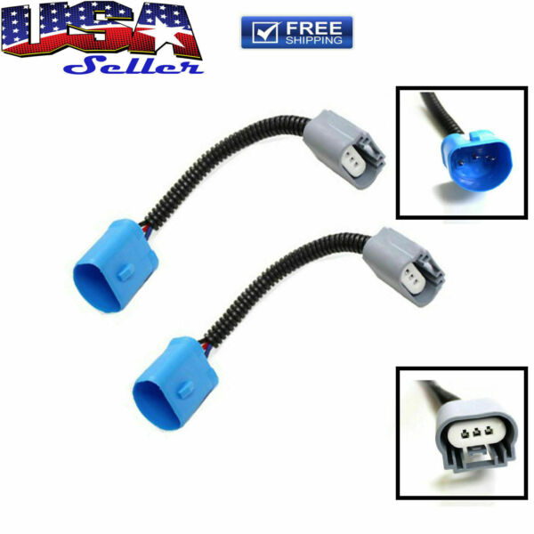 9007 To H13 Headlight Conversion Pigtail Connector Wire Harness for Ford Dodge