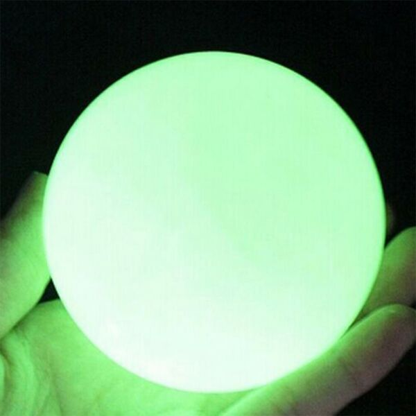 35mm Glow In The Dark Stone Green Luminous Quartz Crystal Sphere Ball with Stand