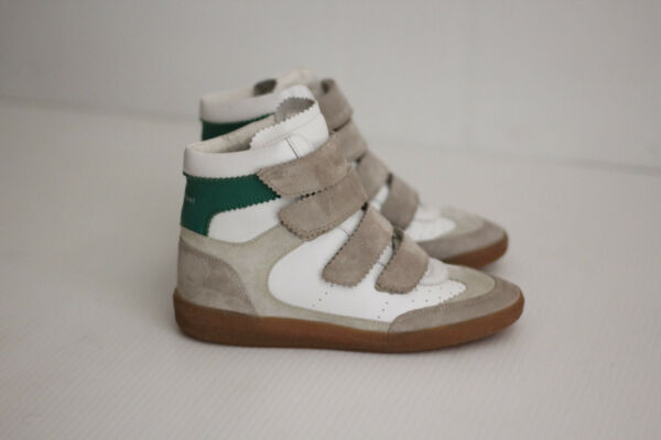 Isabel Marant Etoile 'Bilsy' Leather Hidden Wedge Sneaker - White - 5US  (R72)