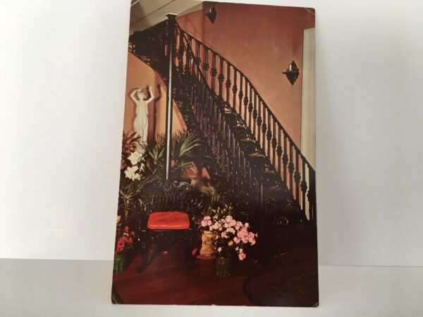 CURVED IRON STAIRCASE THE ELMS HOME Natchez MS