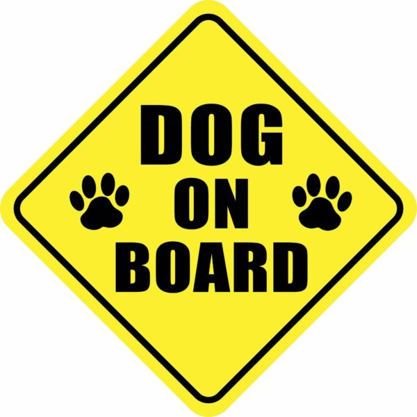 DOG ON BOARD PAWS Magnet PET Sign Buy 2 Get 3rd FREE Made in the USA $3.49