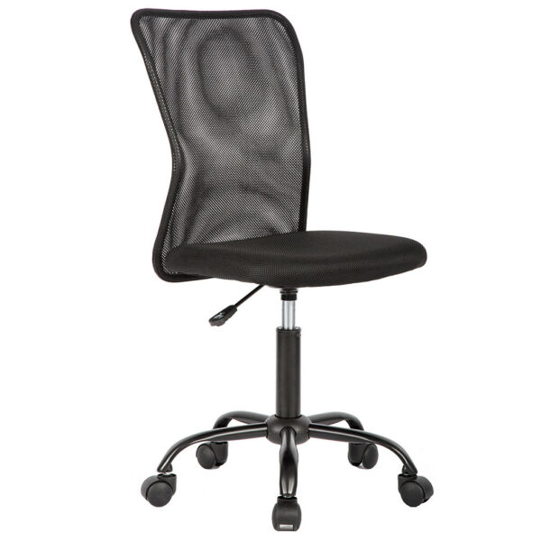 Black Mesh Office Chair Computer Middle Back Task Swivel Seat ErgonomicChair1265