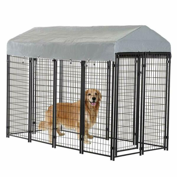 8'x4'x6' OutDoor Heavy Duty Playpen Dog  Kennel w Roof Water-Resistant Cover