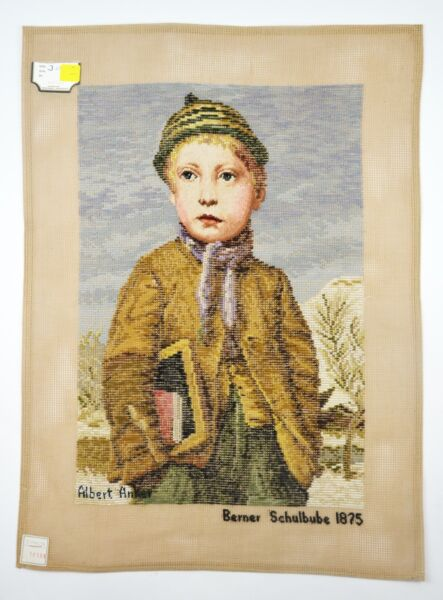 Lindhorst Tapisserie Needlepoint Bernese Schoolboy by Albert Anker Wall Tapestry