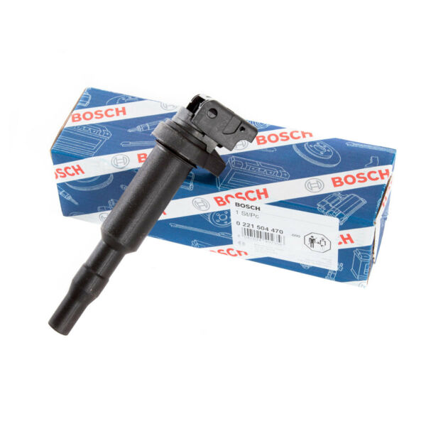 Bosch Ignition Coil Single - 00044  0221504470 - for BMW and Mini Applications