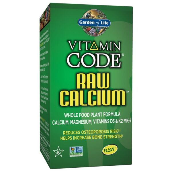 Garden of Life Raw Calcium Supplement - Vitamin Code Whole Food Calcium Vitam...