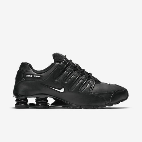 New Nike Men's Shox NZ EU Running Shoes (501524-091)  Black//White-Black